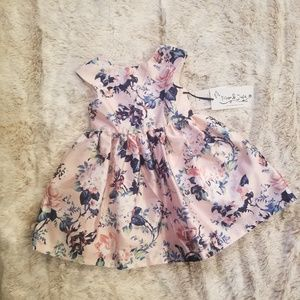 Pippa & Julie GIRLS Mikado Grace Floral Dress